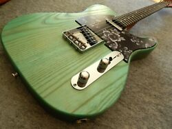 Solid Ash Tele Style Electric Guitar Body And Allparts Neck With Ebony Board