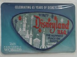 Disneyland 65th Year Anniversary Patch - The Happiest Place On Earth New/rare