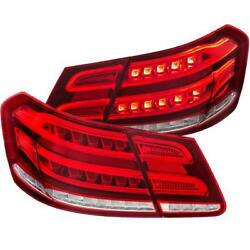 Anzo Led Taillights Red/clear For 2010-2013 Mercedes Benz E Class W212 4dr