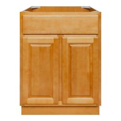 24 Bathroom Vanity Sink Base Cabinet Maple Richmond By Lesscare