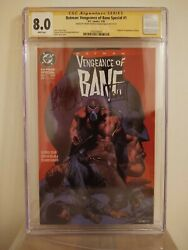 Batman Vengeance Of Bane Special 1 Cgc 8.0 Signed By Dixon And Nolan