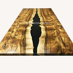 Made To Order Epoxy Table, Custom Acacia Wood Epoxy Resin Dining Table Furniture