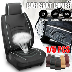 Auto Car Seat Cover Pu Leather Front/rear Seat Protection Cushion Breathable