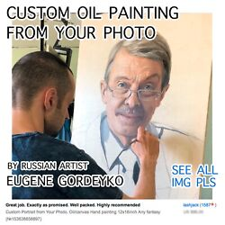 Custom Portrait From Your Photo. Oil On Canvas Hand Painting. Any Fantasy.