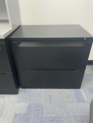 """Lot Of 20 """"great Openings"""" 2 Drawer Lateral Filing Cabinets 36in Wide - Black"""