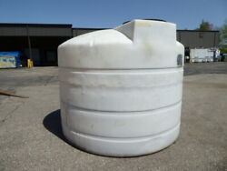 Used Cylindrical Tank - 1600 Gallon Poly Round Tank Ct2276-tanks-cylindrical