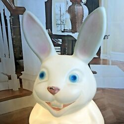 Easter Bunny Empire Blow Mold With Basket Of Eggs And Light Blow Mold 22 Inch