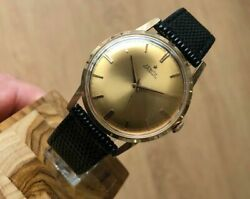 Zenith Automatic 18k Rose Gold 34mm Cal. 2542 Vintage Rare Wrist Watch For Men