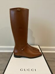 Rosie 15mm Leather Riding Boots Brown Papaya Sz 40.5 Us 10.5