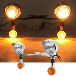 Driving Passing Spot Fog Turn Signals Light Bar For Harley Dyna Glide Low Rider