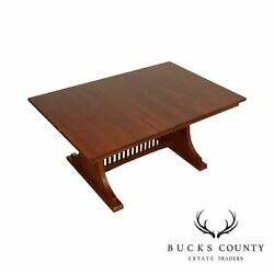 Mission Style Oak Expandable Dining Table