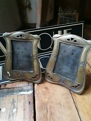 Pair Of Antique Vintage Arts And Crafts Picture Photo Frames