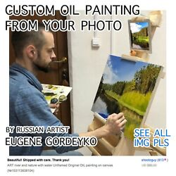Custom Landscape Seascape Artwork From Your Photo. Oil On Canvas Hand Painting.