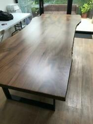 Dining Tabletops Live Edge Solidwood Walnut Natural Lacquered Various Sizes