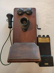 Kellogg Switchboard Supply And Gray Pay Station Wall Telephone Antique Aec