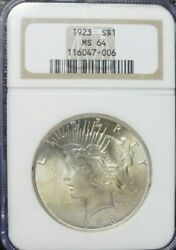 1923-p Peace Dollar Ngc Ms64  Dollar Prices Are Up