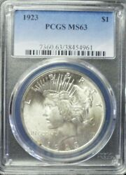 1923-p Peace Dollar Pcgs Ms63  Dollar Prices Are Up