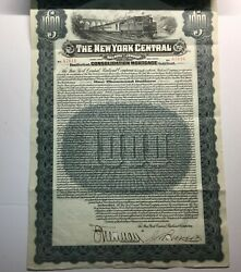 New York Central Gold Bond 1913 56 Coupons Attached