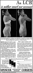 1934 Woman Wearing Anne Spencer Corset Vintage Photo Print Ad Ads75