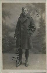 Ww1 Airman Air Mechanic Rfc Royal Flying Corps In Greatcoat With Collar Up