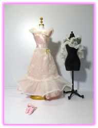 Vintage 1977 Barbie Get-ups Andlsquon Go 9738 Pink And White Lights The Night Top