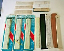 Lot Of 12 Vintage Slide Rules Acumath /sterling Precision/fisher -3 Unopened