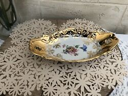 Vintage West Germany Handmade Plate, With Gold 22 Karat From Kleiber Manufacture