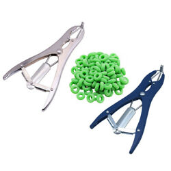 Lamb Castrating Ring Pliers / 100 Castrating Rings Tail Docking Sheep Rubber