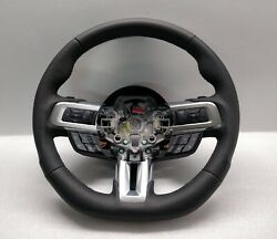 2018 Ford Mustang Iii Steering Wheel Flat New Leather 2015+ Cruise Paddle