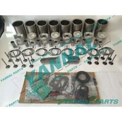 New Ef750 Cylinder Liner Kit With Engine Bearing Valves And Gasket Set For Hino