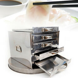 Chinese Rice Noodle Roll Food Steamer Stainless Steel 4 Layer Extra Tray 3429cm