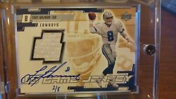 2000 Upper Deck Game Jersey Troy Aikman Auto Ssp 2/8 Holy Grail Card 🔥 Rare