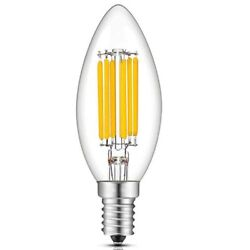 Led Bulb E14 4w 6w Chandelier Indoor High Bright Candle Filament Light Ac110v