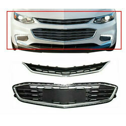 For Chevy Malibu 2016-2018 Honeycomb Mesh Grill Front Bumper Upperandlower Grille
