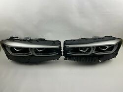 Perfect 2020 2021 Bmw 7 Series 740i 750i B7 Led Left And Right Pair Headlight Oem