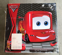 New Disney Cars Tv Dvd Player And Remote Lightning Mcqueen Retro Gaming 13 Crt Tv
