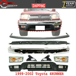 Front Bumper+valance+ Support + Fog Lamp And Brackets For 1999-2002 Toyota 4runner