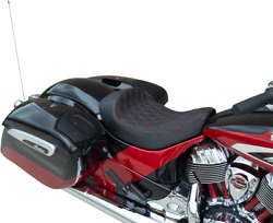 Drag Specialties Solo Seat Double Diamond - Red - Chief 0810-2269