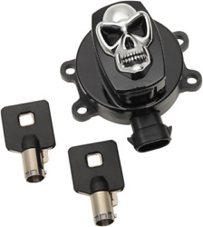 Drag Specialties Skull Ignition Switch Gloss Black 2106-0421