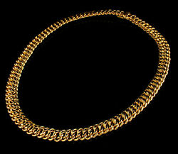 Milor Italy Signed Fine Solid 14k Yellow Gold 10.5mm Wide Multi Link Necklace