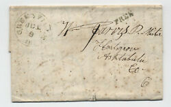 1844 Greenville Il Green Cds Stampless Free Rate [5806.492]