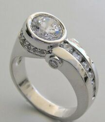 2.78ct Round Cut Moissanite 14k Gold Unusual Contemporary Wedding Ring For Woman