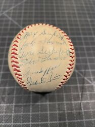 1955 Pittsburgh Pirates Signed Baseball 24 Autos Roberto Clemente 2x Rookie Jsa