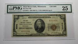 20 1929 Thief River Falls Minnesota Mn National Currency Bank Note Bill 5894