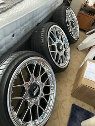 Bbs Rs2 710 711 Concave 5x100 18andrdquo 8.5j 10j Staggered Ceramic Polished Set Of 4