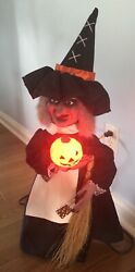 Vintage Original 1988 Telco Motionette Halloween Witch 24andrdquo Tall