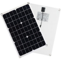 20w 18v Solar Panel Flexible Battery Charger+controller For Motorhome Boats Roof