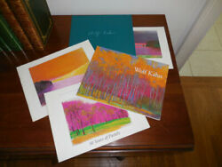 Wolf Art Kahn / Collection Of Five Art Catalogs New Paintings And Pastels 1st Ed