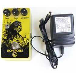 Walrus Audio Iron Horse Distortion Guitar Effects Pedal With Power Supply