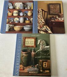 Lot Of 3 Time Life American Country Volume Books Needlearts Folk Art Country